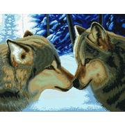 """Набор для вышивания крестом Белоснежка """"Два волка"""""""