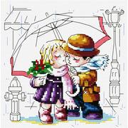 """Набор для вышивания крестом Белоснежка """"Романтика под зонтиком"""""""