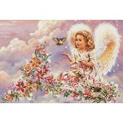 """Набор для вышивания крестом Белоснежка """"Серебристый ангел"""""""