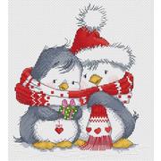 """Набор для вышивания крестом Белоснежка """"Пингвинчики"""""""