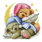 """Набор для вышивания крестом Белоснежка """"Два медвежонка"""""""