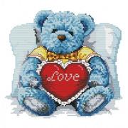 """Набор для вышивания крестом Белоснежка """"Медвежонок с сердцем"""""""