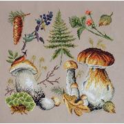 """Набор для вышивания крестом Марья искусница """"Белые грибы"""""""