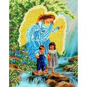 """Канва/ткань с нанесенным рисунком Каролинка """"У водопада"""""""