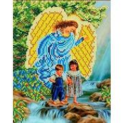"""Ткань с рисунком для вышивки бисером Каролинка """"У водопада"""""""