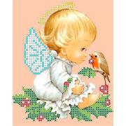 """Канва/ткань с нанесенным рисунком Каролинка """"Разговор с птичкой"""""""