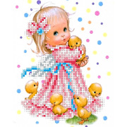 """Канва/ткань с нанесенным рисунком Каролинка """"Веселый хоровод"""""""