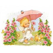 """Канва/ткань с нанесенным рисунком Каролинка """"У природы нет плохой погоды"""""""