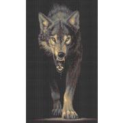 """Канва/ткань с нанесенным рисунком Каролинка """"Хищники. Волк"""""""