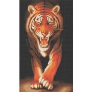 """Канва/ткань с нанесенным рисунком Каролинка """"Хищники. Тигр"""""""