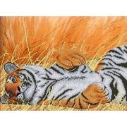 """Канва/ткань с нанесенным рисунком Каролинка """"Тигр"""""""