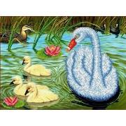 """Ткань с рисунком для вышивки бисером Каролинка """"На пруду"""""""