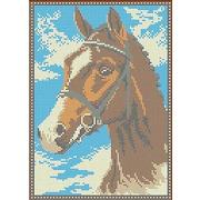"""Канва/ткань с нанесенным рисунком Каролинка """"Лошадь"""""""