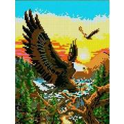 """Канва/ткань с нанесенным рисунком Каролинка """"Полет орла"""""""