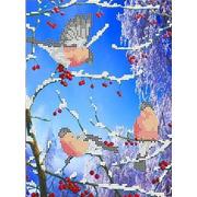 """Канва/ткань с нанесенным рисунком Каролинка """"Морозное утро"""""""