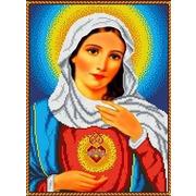 """Канва/ткань с нанесенным рисунком Каролинка """"Святое сердце Марии"""""""