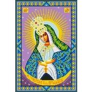 """Ткань с рисунком для вышивки бисером Каролинка """"Богородица Остробрамская """""""