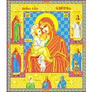 """Канва/ткань с нанесенным рисунком Каролинка """"Богородица Почаевская"""""""