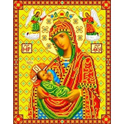 """Ткань с рисунком для вышивки бисером Каролинка """"Богородица Млекопитательница"""""""
