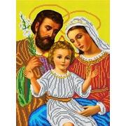 """Ткань с рисунком для вышивки бисером Каролинка """"Святое семейство"""""""