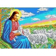 """Канва/ткань с нанесенным рисунком Каролинка """"Иисус-пастырь"""""""