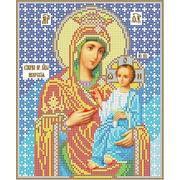 """Ткань с рисунком для вышивки бисером Каролинка """"Богородица Иверская"""""""