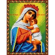 """Канва/ткань с нанесенным рисунком Каролинка """"Богородица Отчаянных единая надежда"""""""