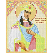"""Канва/ткань с нанесенным рисунком Каролинка """"Святая Тамара"""""""