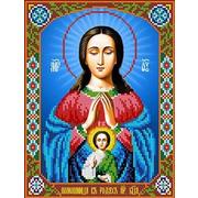 """Канва/ткань с нанесенным рисунком Каролинка """"Богородица Помощница в родах"""""""
