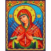 """Канва/ткань с нанесенным рисунком Каролинка """"Богородица Семистрельная"""""""