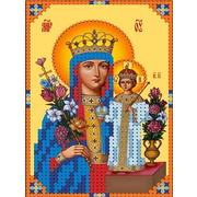 """Канва/ткань с нанесенным рисунком Каролинка """"Богородица Неувядаемый цвет"""""""