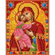 """Ткань с рисунком для вышивки бисером Каролинка """"Богородица Владимирская"""""""