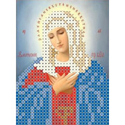 """Ткань с рисунком для вышивки бисером Каролинка """"Богородица Умиление"""""""