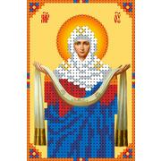 """Ткань с рисунком для вышивки бисером Каролинка """"Покров Пресвятой Богородицы"""""""
