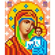 """Ткань с рисунком для вышивки бисером Каролинка """"Богородица Казанская"""""""
