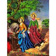 """Ткань с рисунком для вышивки бисером Каролинка """"Две сестры"""""""