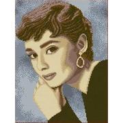 """Канва/ткань с нанесенным рисунком Каролинка """"Одри Хепбер"""""""