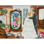 """Канва/ткань с нанесенным рисунком Каролинка """"Дочь глазами отца"""""""