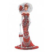 """Канва/ткань с нанесенным рисунком Каролинка """"Дама в красном"""""""