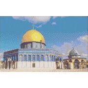 """Канва/ткань с нанесенным рисунком Каролинка """"Мечеть Купол Скалы"""""""