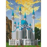 """Ткань с рисунком для вышивки бисером Каролинка """"Мечеть"""""""