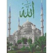 """Ткань с рисунком для вышивки бисером Каролинка """"Голубая мечеть"""""""