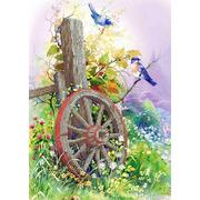"""Канва/ткань с нанесенным рисунком Каролинка """"Старое колесо"""""""