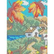 """Канва/ткань с нанесенным рисунком Каролинка """"Осень"""""""