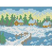 """Канва/ткань с нанесенным рисунком Каролинка """"Зима"""""""