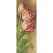 """Канва/ткань с нанесенным рисунком Каролинка """"Тюльпаны"""""""