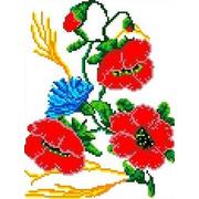 """Канва/ткань с нанесенным рисунком Каролинка """"Полевой букет"""""""