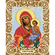 """Ткань с рисунком для вышивки бисером Божья коровка """"Богородица Воспитательница"""""""