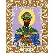 """Ткань с рисунком для вышивки бисером Божья коровка """"Святой Царь Николай"""""""