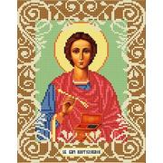 """Ткань с рисунком для вышивки бисером Божья коровка """"Святой Целитель Пантелеймон"""""""